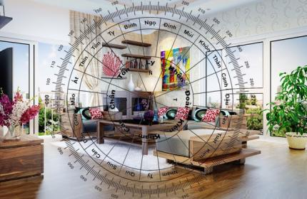 Cách tìm tâm điểm (Trung cung) trong nhà
