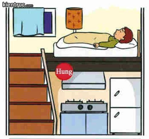 tối kị khi đặt giường ngủ