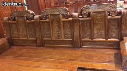 Mẫu bàn ghế gỗ đồng kỵ đẹp.