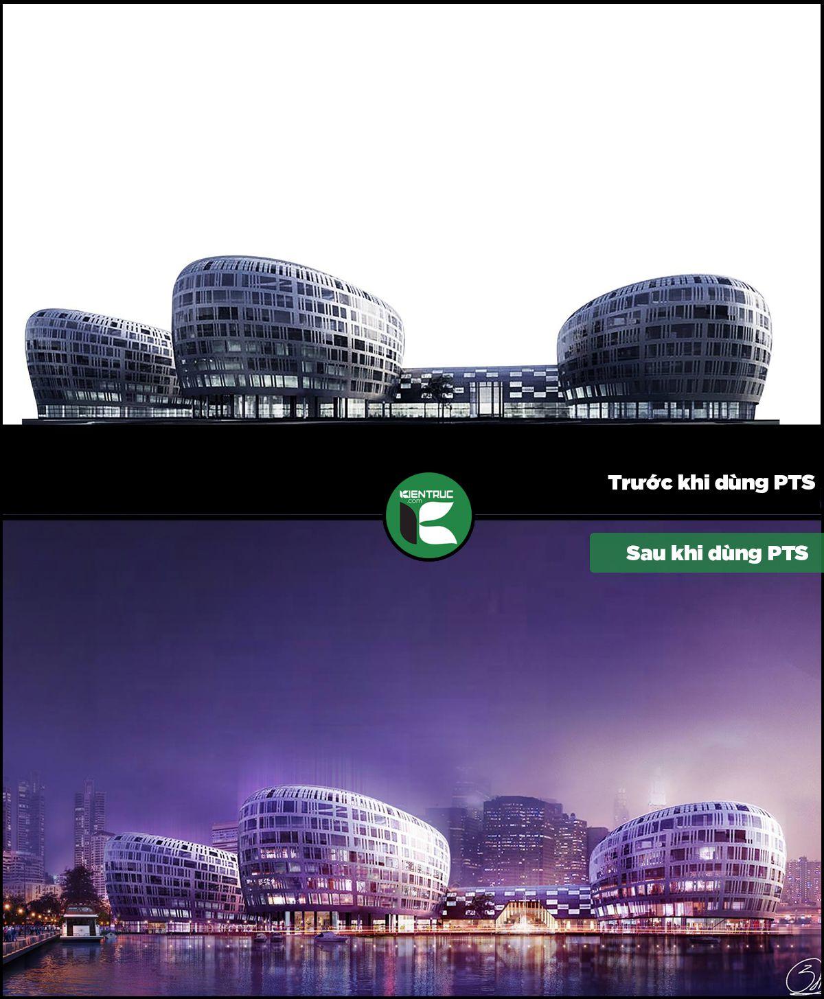 Sử dụng thư viện photoshop kiến trúc trong thể hiện đồ án